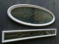 Glass Door Oval and Recangle, with Brass