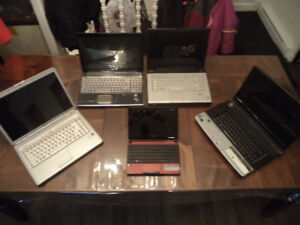 lot de 5 laptop