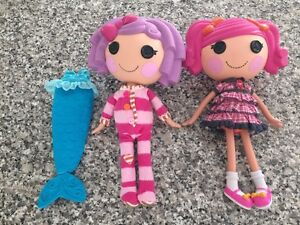 Lalaloopsy Dolls and mermaid suit