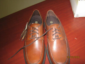 New Hunter Bay brown leather grain shoes for sale