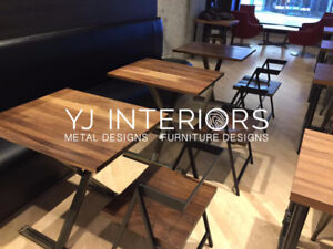 Custom Design Tables, Furniture for Restaurant, Bar, Coffee Shop