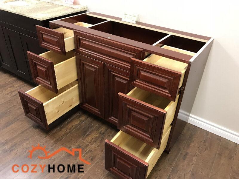 """sale 48"""" maple solid wood bathroom vanity  bathwares"""