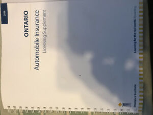 Ontario Automobile Insurance Licensing Text Book