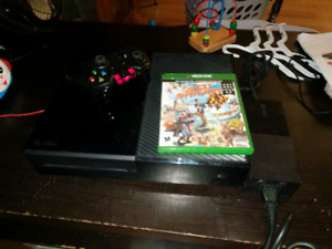 Xbox one with 1 controller and game
