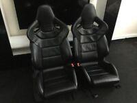 Genuine Audi s3 8p 3 door recaro bucket wingback leather seats not s Line rs3 Volkswagen vw