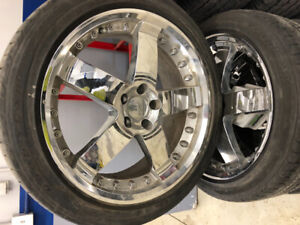 4 UNIVERSAL 20in WHEELS & TIRES -FORD - DODGE - JEEP