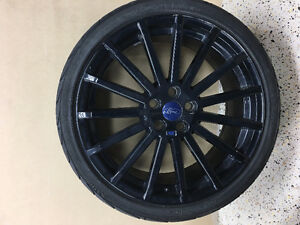 19 inch Ford Racing wheels and tires