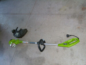 "GRASS TRIMMER- 15"" cut - electric- 5.5 amps-GREENWORKS REDUCED"
