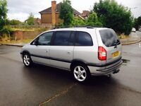 ZAFIRA 2004-1.6 VERY CLEAN-7 SEATER-TINTED WINDOWS-CHILLED AC-TOW BAR-MOT-SERVICE-CLEAN IN OUT