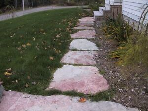 FLAGSTONE - stairs or retaining walls