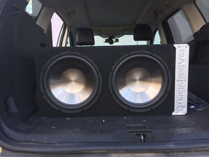 """2 x 12"""" Clarion Subs in box"""