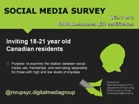 Complete an online social media survey (enter to win $100)