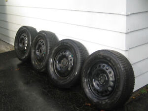 Used snow tires on rims