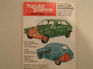 Vintage Popular Science Magazine February 1975 GC