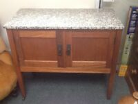 Vintage marble top washstand