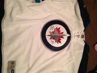 Authentic Winnipeg Jets away/white jersey, with autograph.