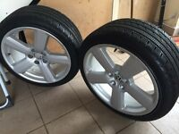 2x snow tyres and alloys, Audi Vw seat