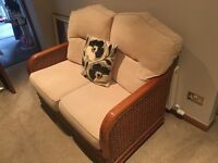 Rattan sofa and two chairs