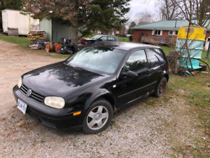 Parting out 1999/2000 VW Golf 2.0L