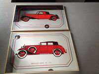 CADRES *** VINTAGE MERCEDES & CADILLAC *** PICTURES