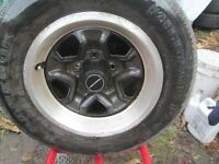 4---14 in Old School Rims---5 x 120.7mm