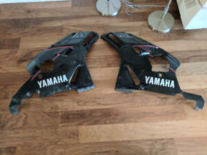 1991 yamaha fzr 600 right left fairings black