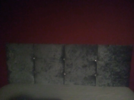 Double bed head board fabric and gem's