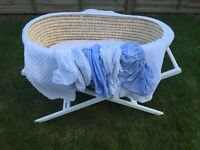 John Lewis Moses Basket & Accessories