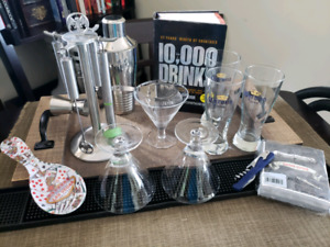 Lot #1= 20 pc MAN CAVE Bar tender drinks assorted
