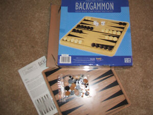 New...Wooden Backgammon by Fundex London Ontario image 1