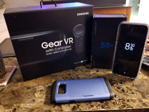 Unlocked S8+ with Gear VR and 2 cases $1000