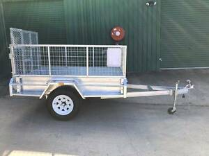 7x4 Trailer HD Built-Incl 600mm Cage with Full width Loading Ramp Esk Richmond Valley Preview