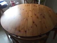 IKEA Leksvik Round extending dining table