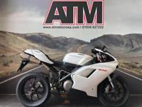 DUCATI 848 2008, 12K MILES, AUG 18 MOT, FULL CARBON FAIRINGS (6 MONTHS WARRANTY)