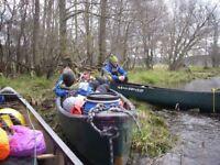 Canoe camping trip river Boyne 29 September wild camping Trim to Slane 2 nights.