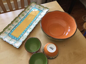 5-piece Set of Ceramic Serving Dishes