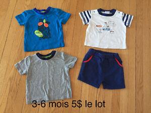 Vêtements bébé garçon (3-6-12mois)