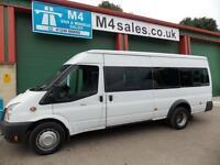 Ford Transit 135ps,17st Minibus,tacho.PSV Available