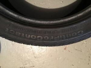 2 CONTIPROCONTACT TIRES LIKE NEW