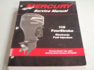 MERCURY 115 HP FOURSTROKE EFI OUTBOARD 90-881980R02 FACTORY