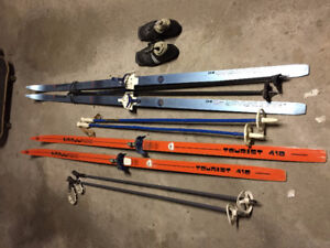Good Condition Cross-Country Skis - Man & Lady $ Reduced $