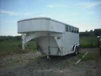 Moritz  2 Horse Slant Horse trailer