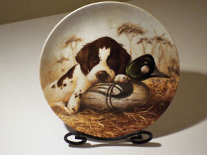 "Collectible Numbered Plate ""Dog Tired-The Springer Spaniel"""