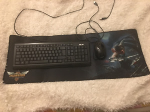 Keyboard and Mouse Pad