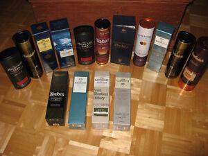 Collection de 17 bouteilles de scotch