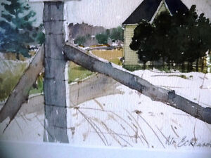 """Early Spring """"Near Eckhardts Corners, Stouffville, Watercolor Stratford Kitchener Area image 4"""