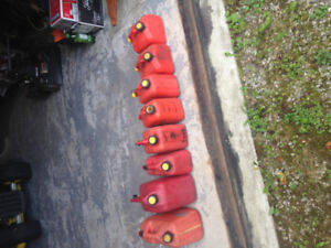 5 and 10 gal. gas (jerry) cans for sale
