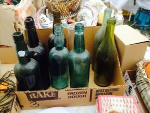 ANTIQUE COLOUR BOTTLES