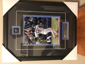 Jose Bautista Pride if the Blue Jays.  Signed Plaqued and COA