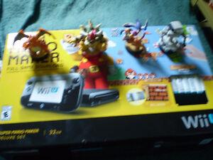 console wii u mario super maker  avec 11 jeux + accessoire